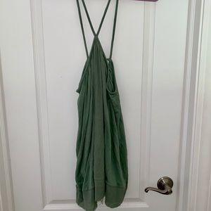 Urban Outfitters Green Mini Halter Dress